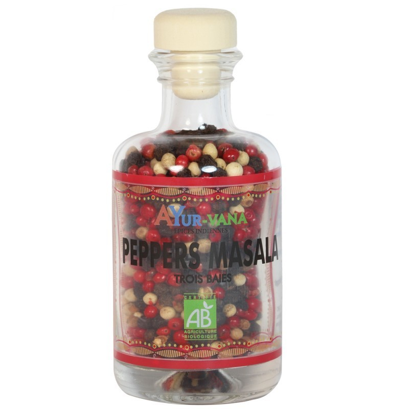 Peppers Masala bio (3 baies) - 50g